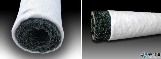 塑料盲沟套土工布